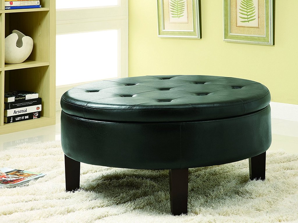 Coffee Table Leather Storage Coffee Table Wood Brown Square Leather Ottoman Coffee Table