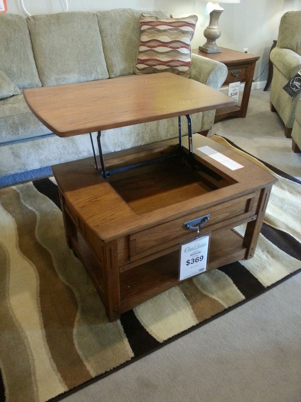 Coffee Table Turned Tv Dinner Tray 369 How To Design Rustic Console Table