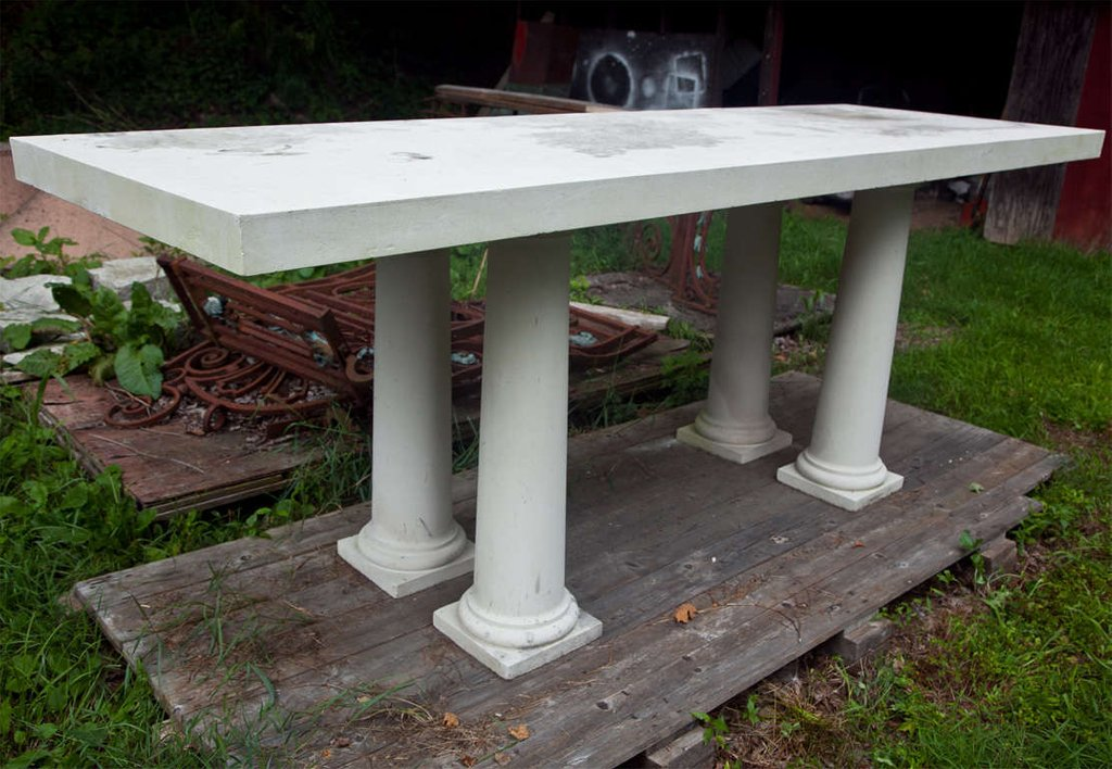 Colossal Portland Stone Table 1stdib The Round Marble Dining Table