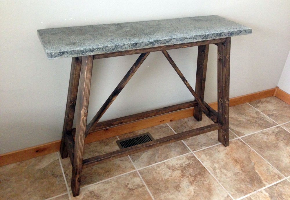 Concrete Buffet Table Diy Project Pete Build How To Build Round Wood Table Tops
