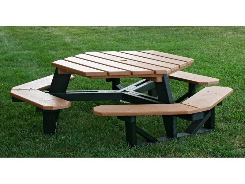 Contemporary Hexagon Picnic Table Plan Stroovi Decorating Square Picnic Table