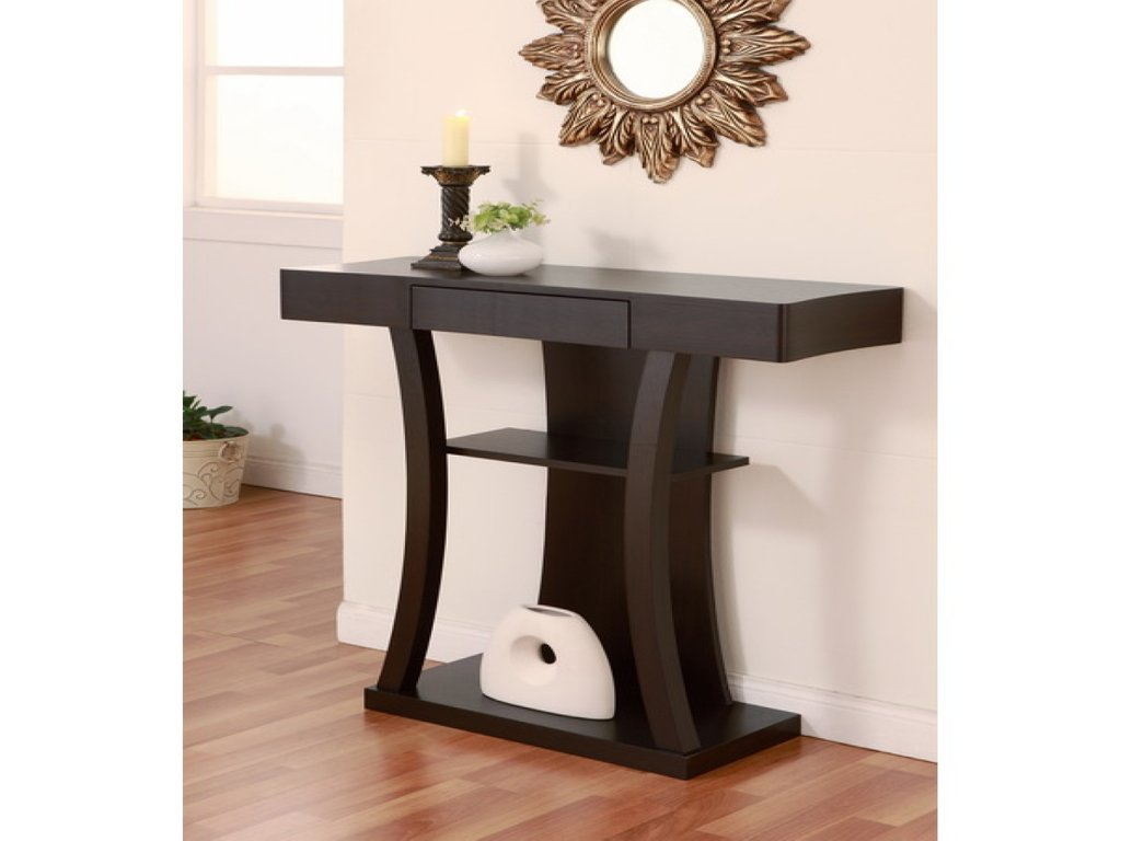Contemporary Sofa Table Modern Console Table Storage Modern Mirrored Console Table