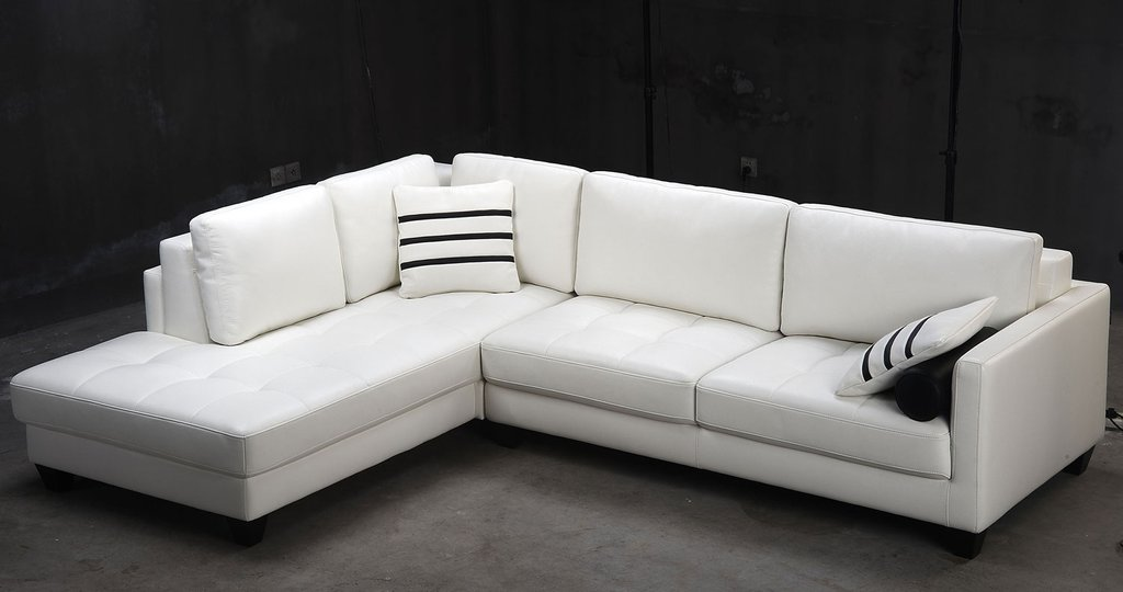 Contemporary White Shaped Leather Sectional Sofa Modern Sectional Sofas For Small Spaces Modern