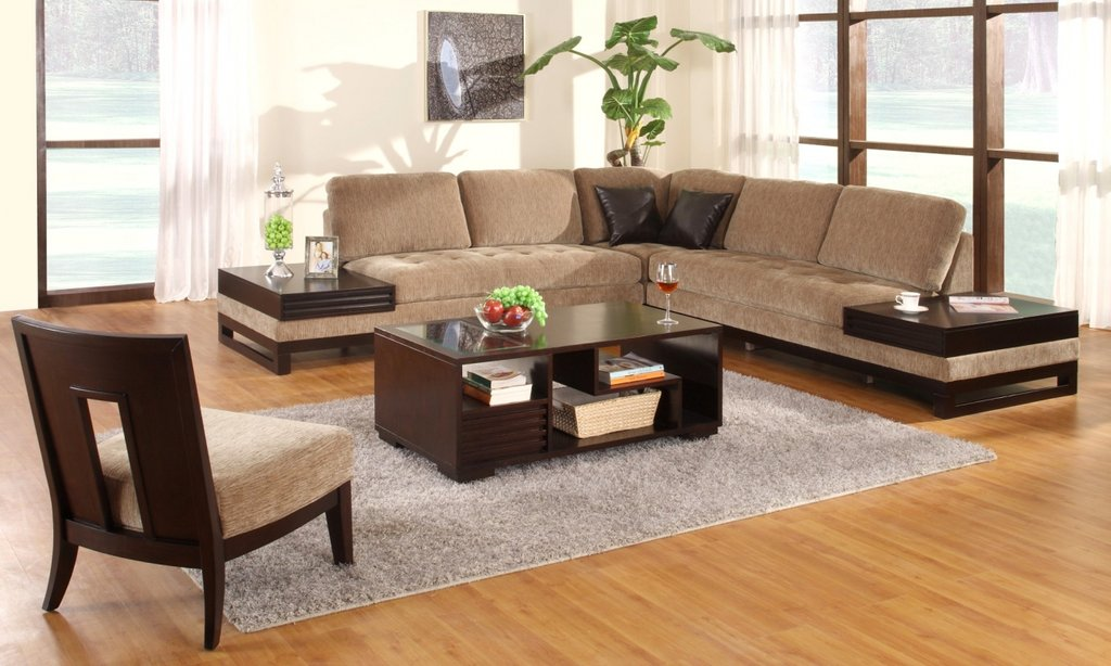 Contemporary Wooden Sofa Tables Sofa Attached Table Sectional Sofas For Small Spaces Modern