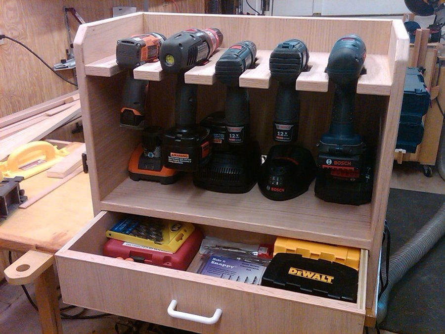 Cordless Drill Storage Rack Lovequilt Ideas For Wooden Clothes Rack