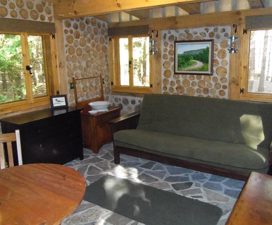 Cordwood Cabin Grid Retreat Making Fire Pit Coffee Table