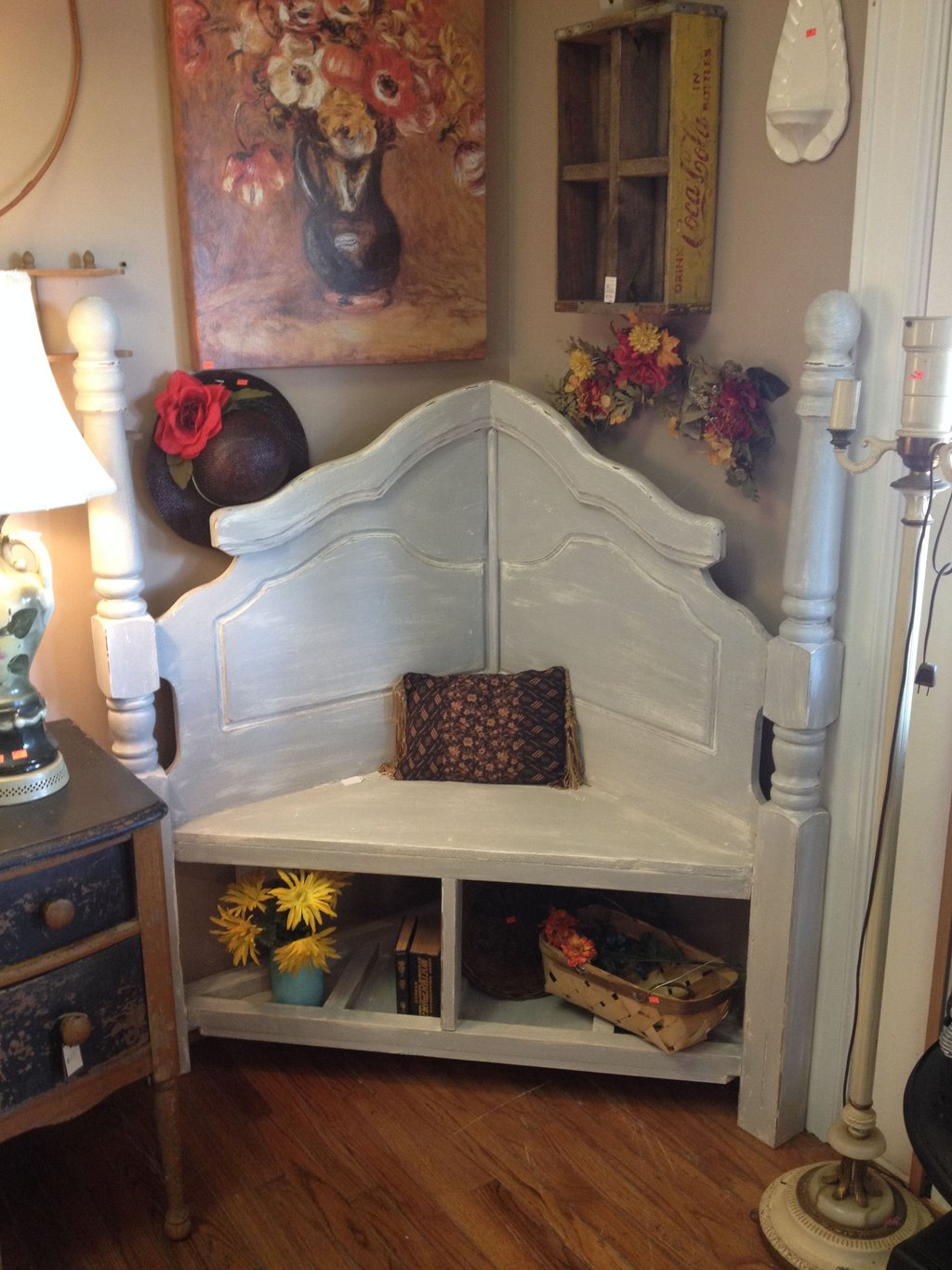 Corner Bench Queen Sized Headboard Extra How To Make A Header Two Queen Size Headboards