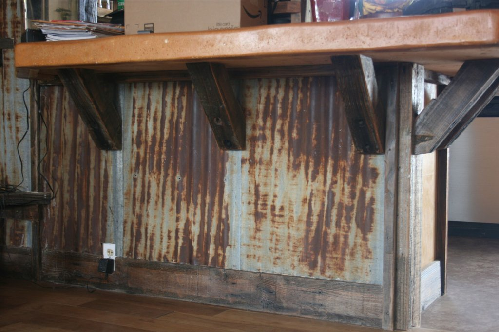 Corrugated Steel Wainscoting Checkered Corrugated Metal Distressed Laminate Flooring Ideas