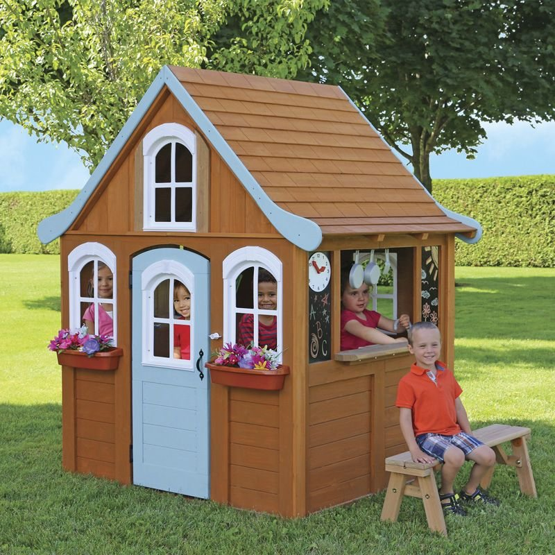 Costco Uk Solowave Cedar Summit Storybrooke Playhouse 2 Kids Outdoor Wooden Playhouse Ideas