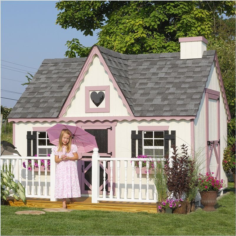 Cottage Company Victorian 8 39 X8 39 Children Wood Durability Of Kids Wooden Playhouse