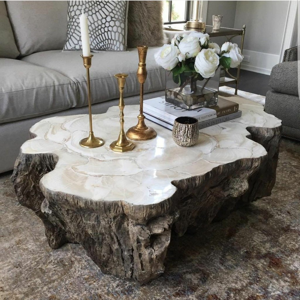 Country Decor Countryfinish Interiordesign Make A Tree Trunk Coffee Table