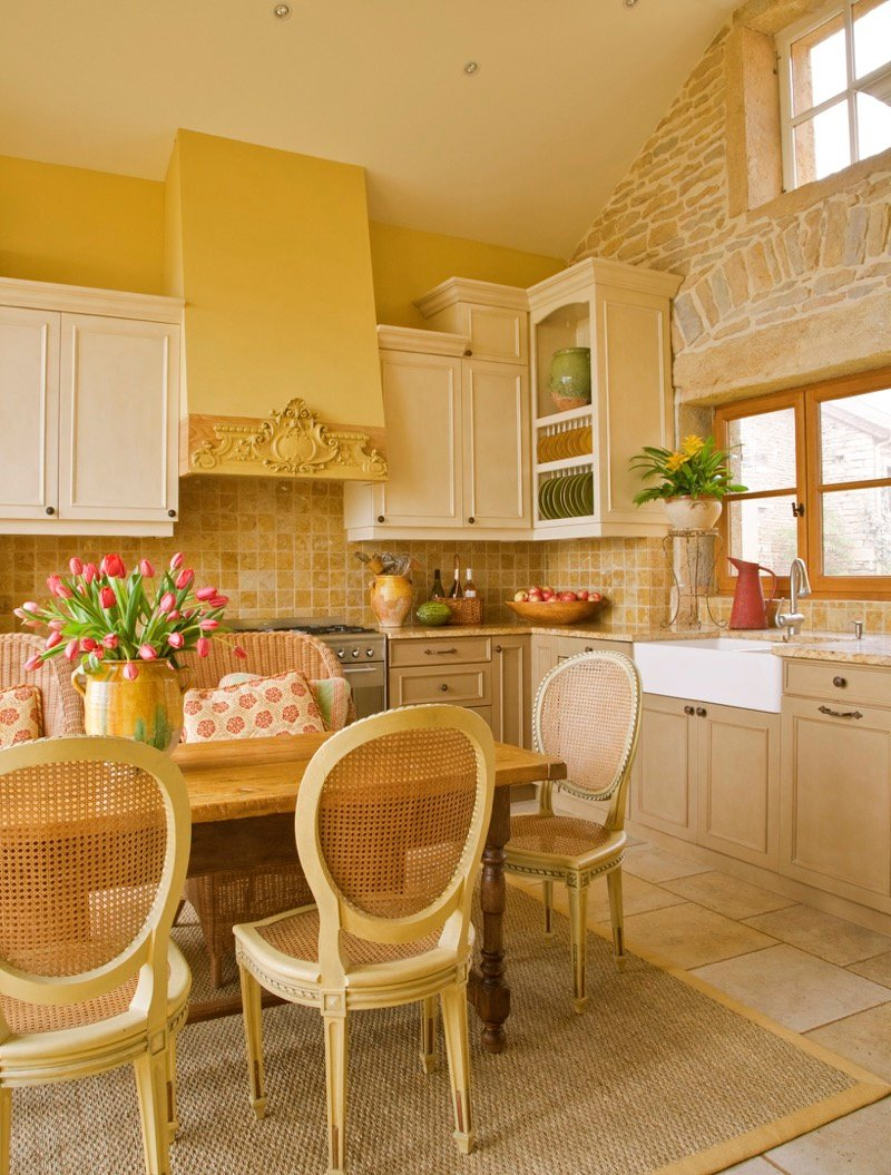 Country Kitchen Cabinet Idea Style Guide Idea French Rustic Maple Kitchen Cabinets