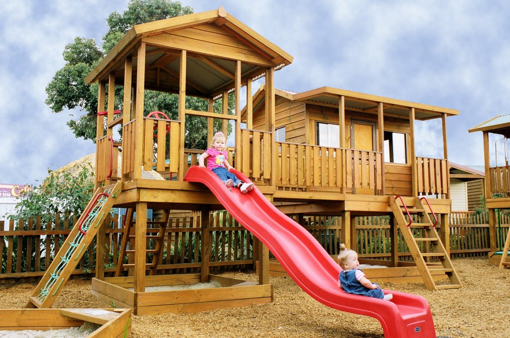 Cubby House Aaron Outdoor Living Outdoor Wooden Playhouse With Slide