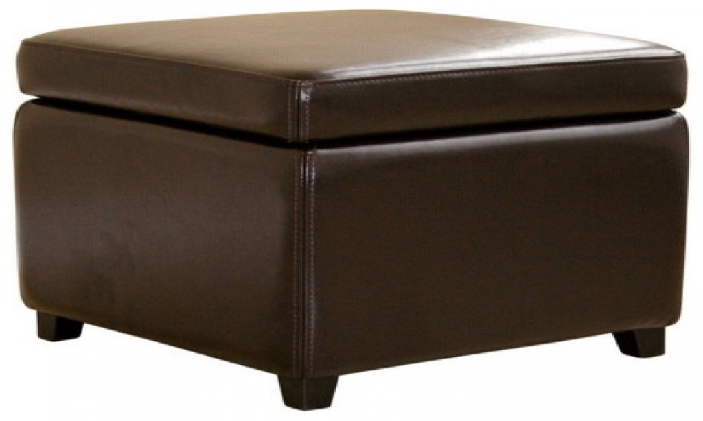 Cube Storage Ottomans Real Leather Storage Ottoman Brown Square Leather Ottoman Coffee Table