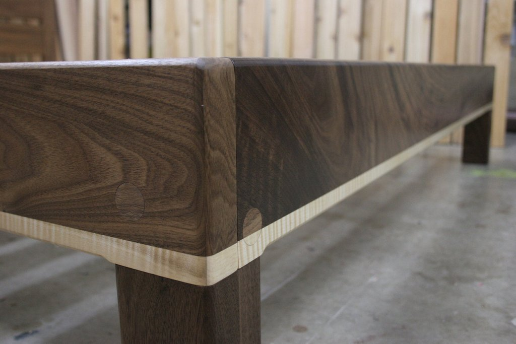 Curly Maple Walnut Queen Platform Bed Frame Build Wooden Twin Bed Frame