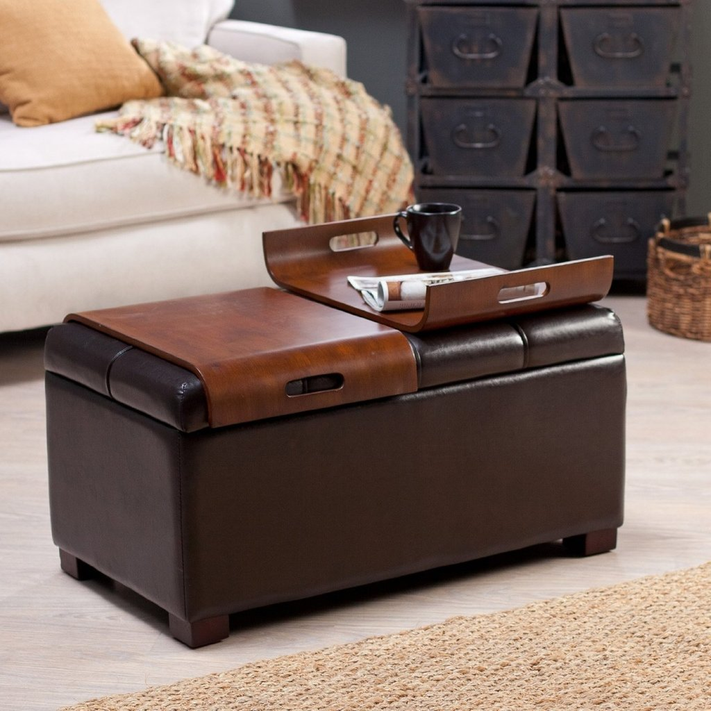 Cushion Coffee Table Storage Furniture Roy Home Design Square Leather Ottoman Coffee Table