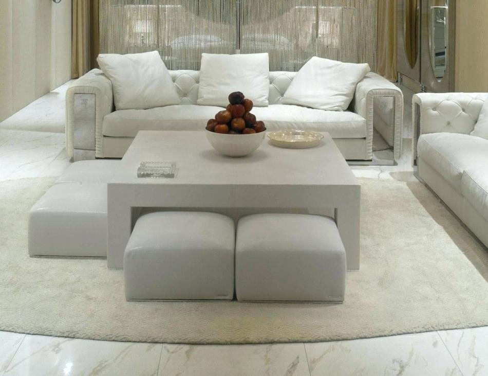Cushioned Ottoman Coffee Table Upholstered Ottoman Square Leather Ottoman Coffee Table