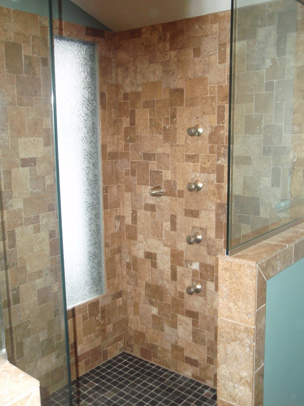 Custom Shower Body Wash System Gt Project Gt Bender Rustic Maple Kitchen Cabinets