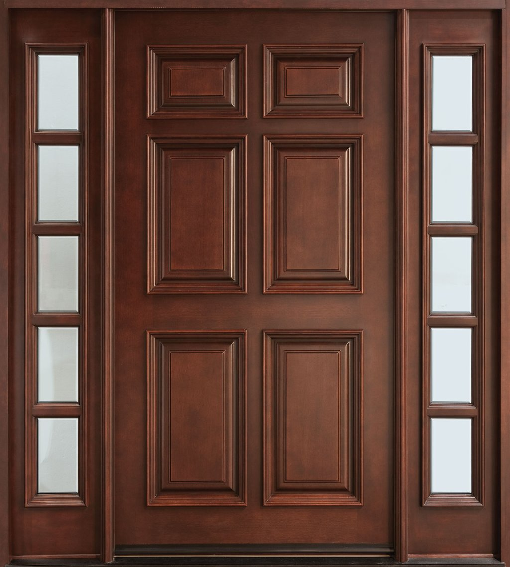 Custom Solid Wood Exterior Door Frosted Solid Wood Exterior Doors