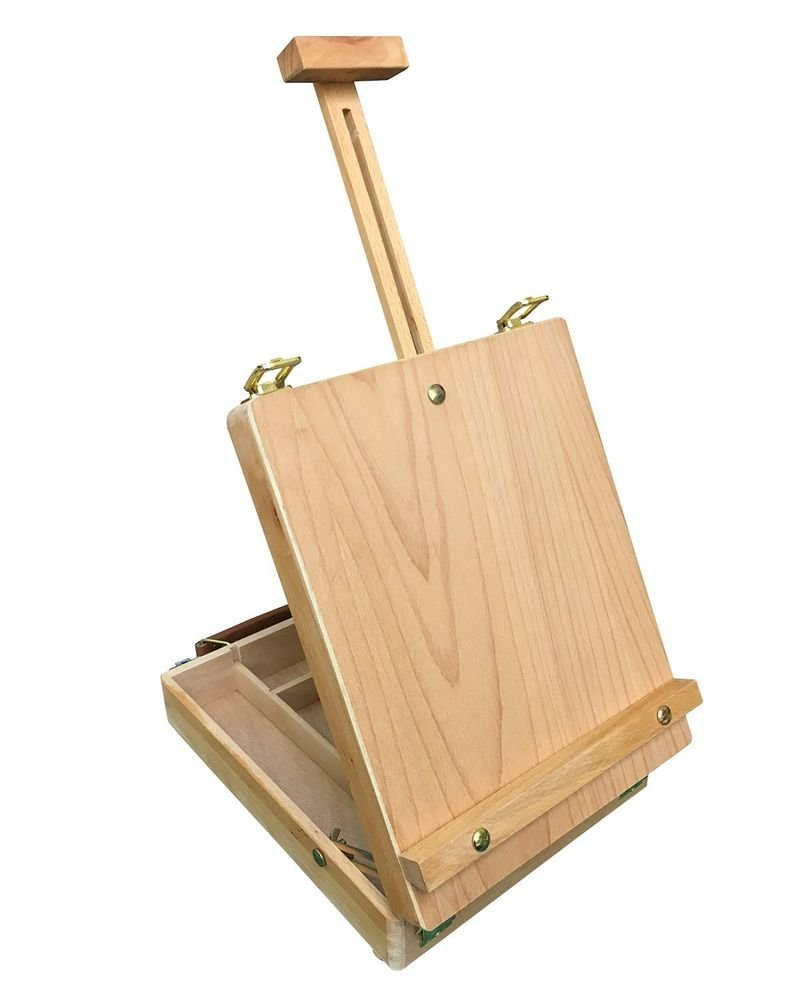 Dalby Wooden Artist 39 Painting Drawing Table Top Box A Painter Table Top Easel