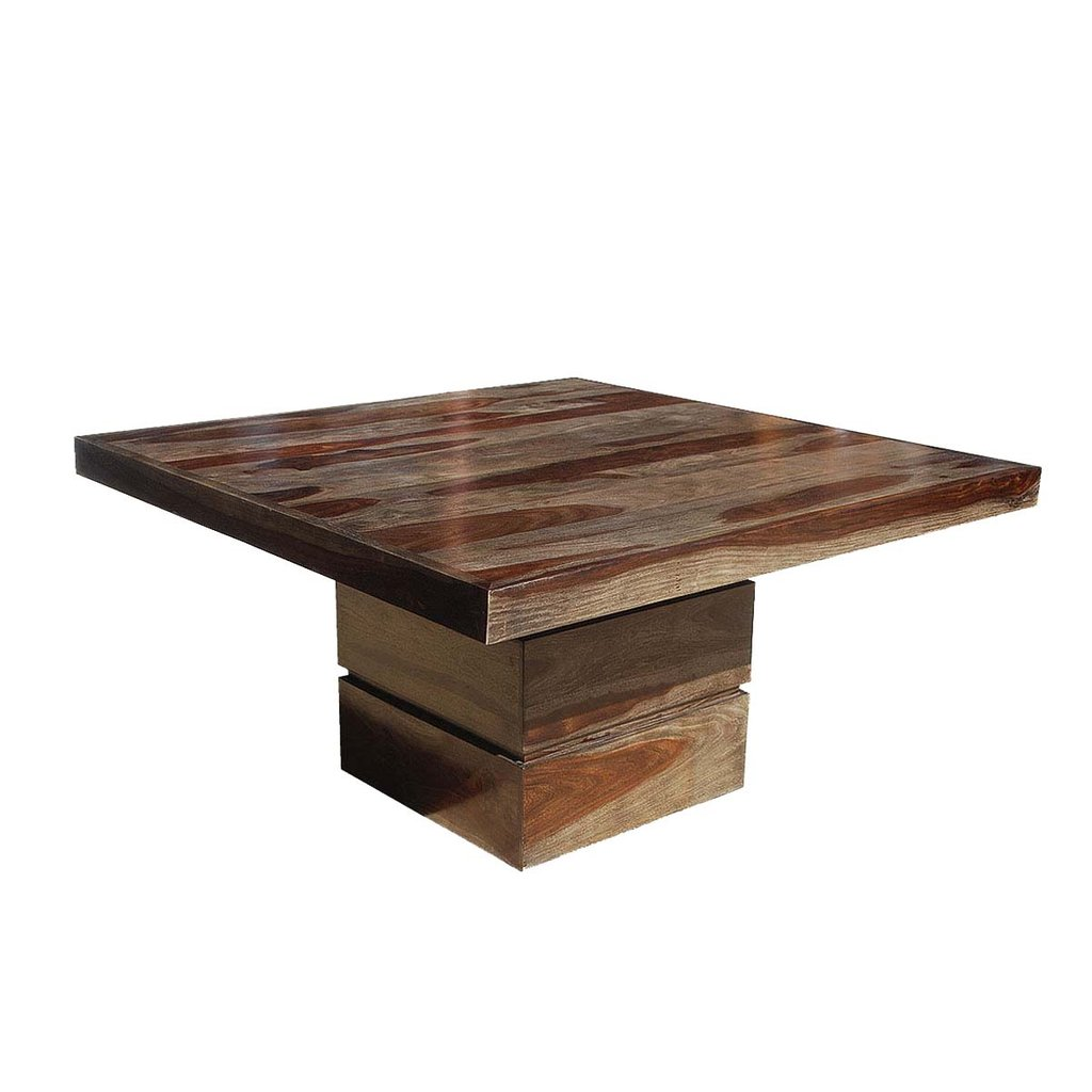 Dalla Modern Solid Wood 48 Quot Square Pedestal Dining Table How To Make Square Pedestal Dining Table