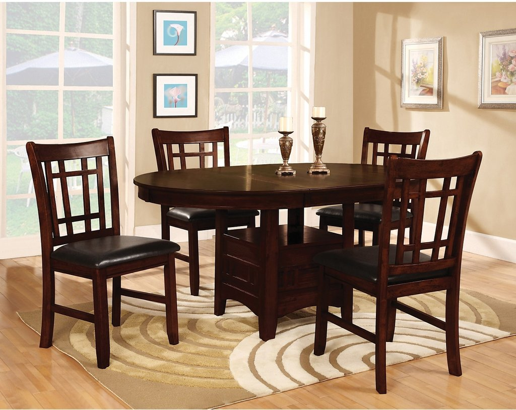 Dalton 5 Piece Chocolate Counter Height Dining Package Counter Height Kitchen Tables Design