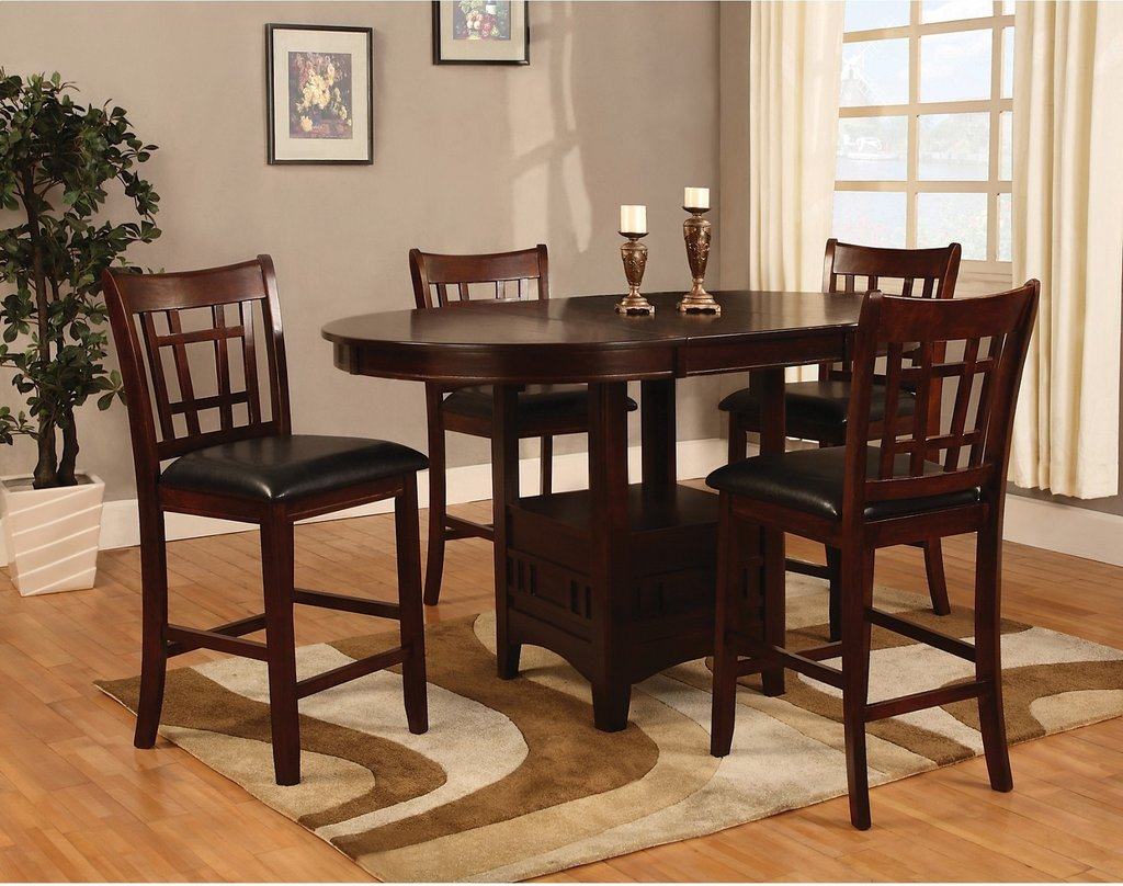 Dalton Chocolate Counter Height Table Brick Counter Height Kitchen Tables Design