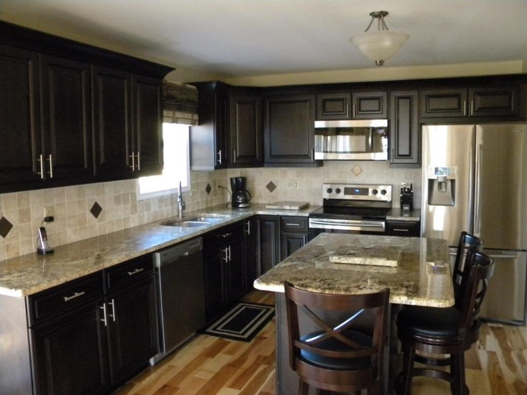 Dark Kitchen Cabinet Dark Granite 50 High Dark Faux Brick Flooring Finish