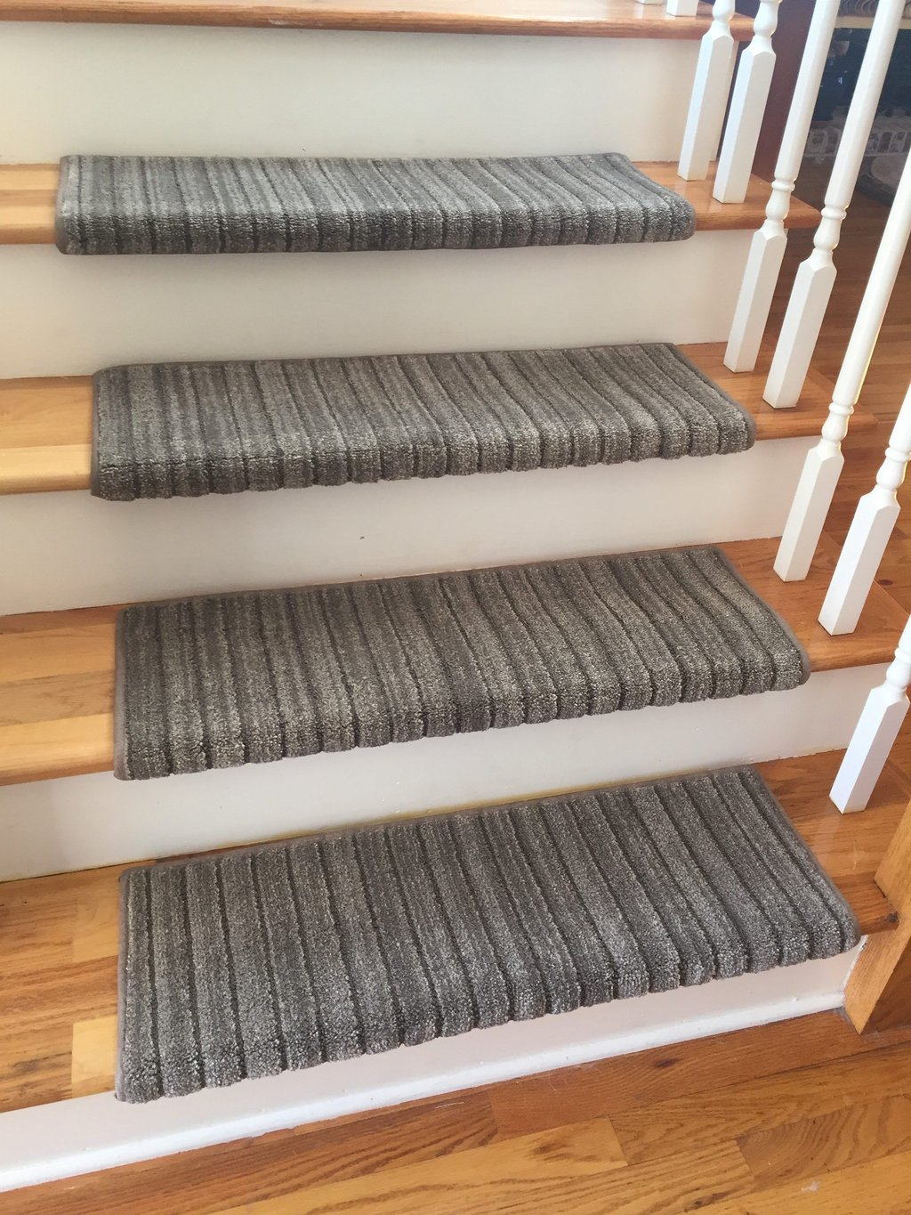 Decor Enticing Bullnose Carpet Stair Tread Design Hardwood Stair Treads