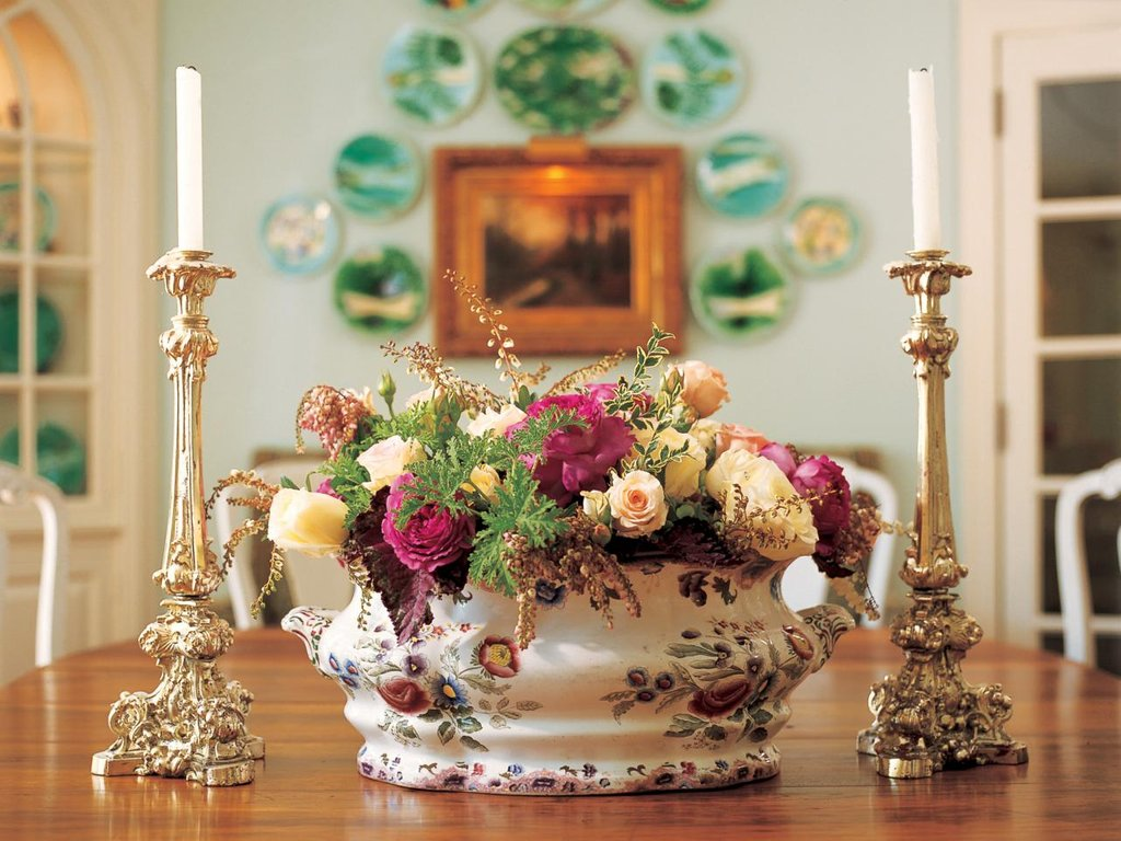 Decorating Dining Table Ruby Lane Blog Dining Room Table Centerpieces Ideas