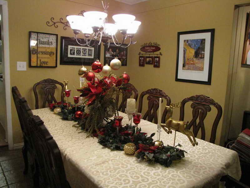 Decoration Christma Dining Room Table Decoration Dining Room Table Centerpieces Ideas