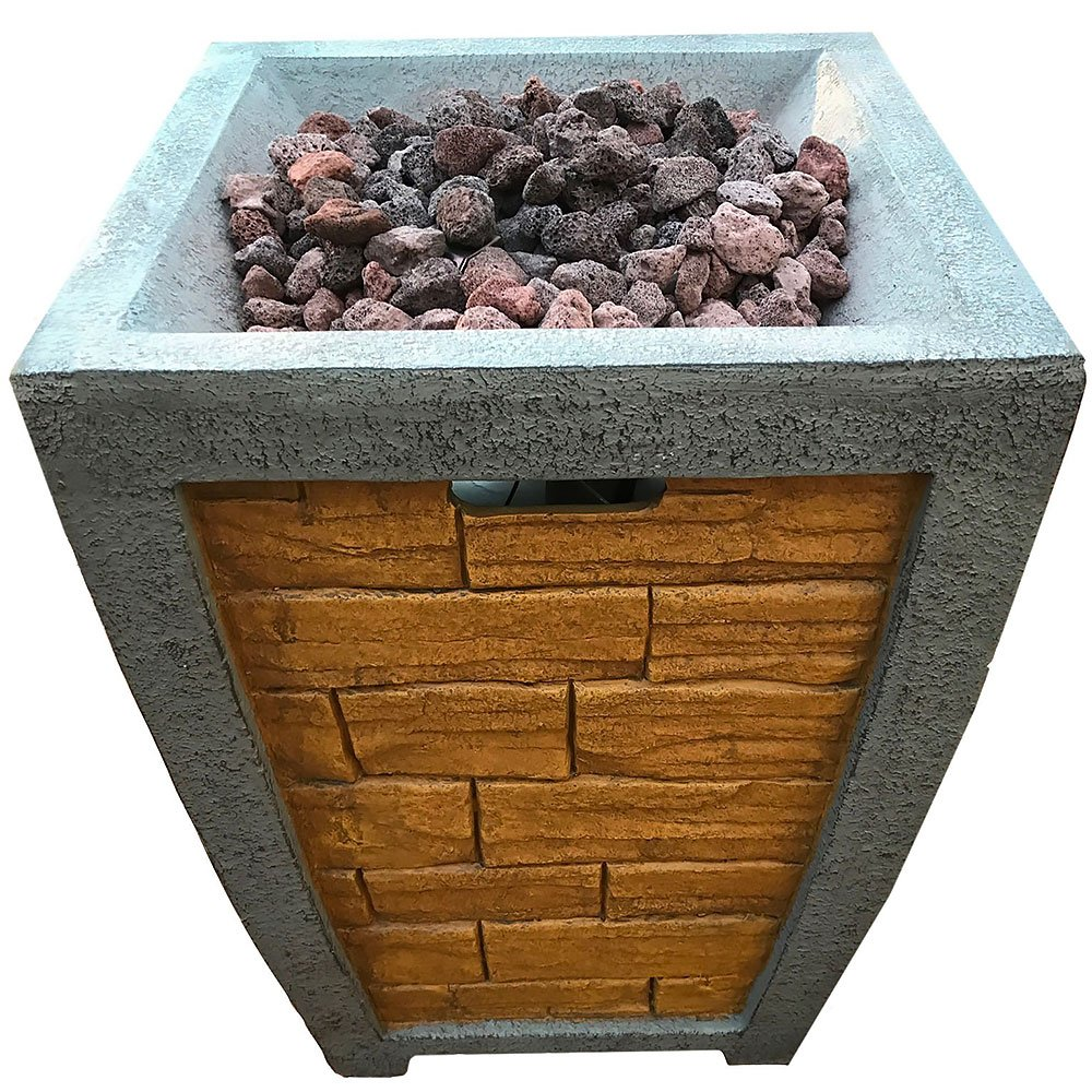 Deeco Faux Brick Column Gas Fire Pit Dm Gfp 008a Lr Faux Brick Flooring Finish