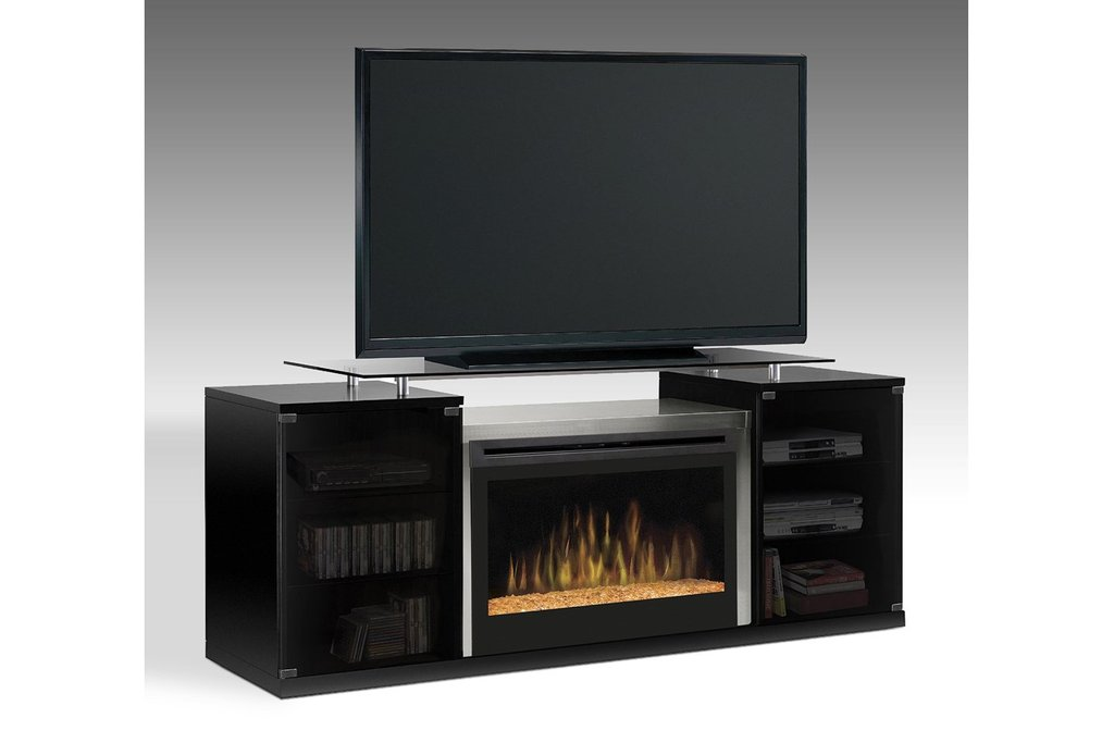 Dimplex Marana 76 Quot Fireplace Tv Stand Glass Ember Fireplace TV Stand