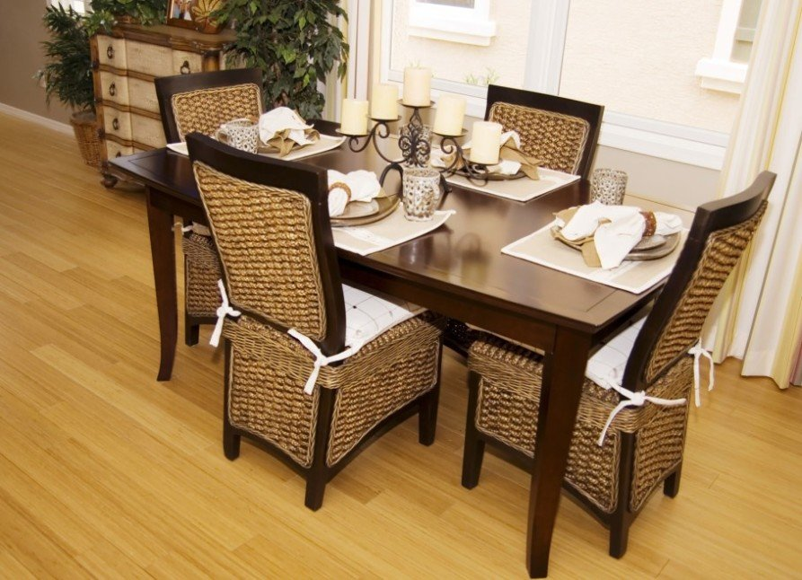 Dining Room Attractive Wicker Dining Room Chair Indoor How To Repair Rattan Dining Chairs