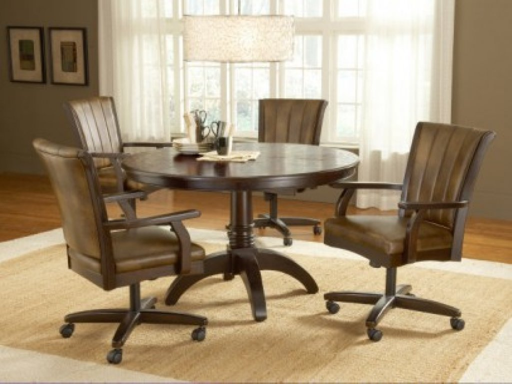 Dining Room Chair Caster Swivel Decorate Top Kitchen Dinette Sets