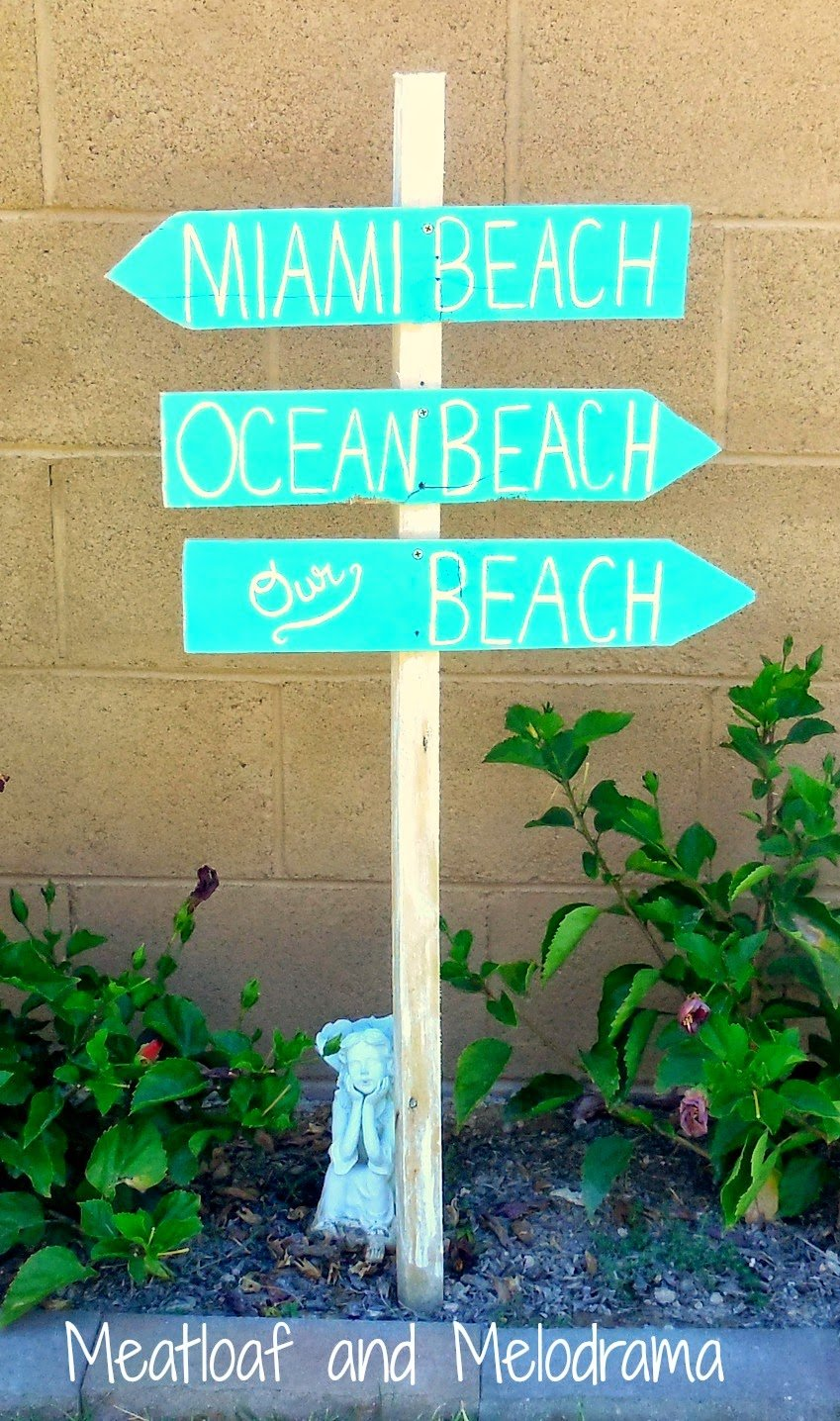Diy Beach Sign Meatloaf Melodrama Mounting A Wooden Towel Rack