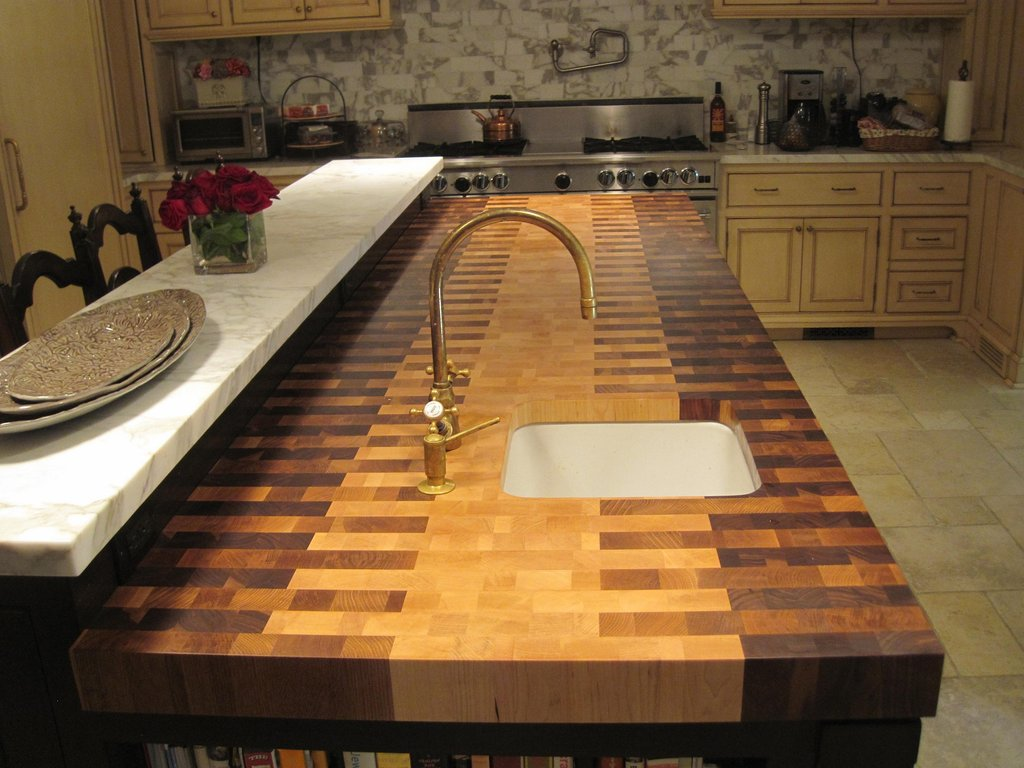 Diy Butcher Block Kitchen Countertop Design Repair Spilt Butcher Block Counter Tops