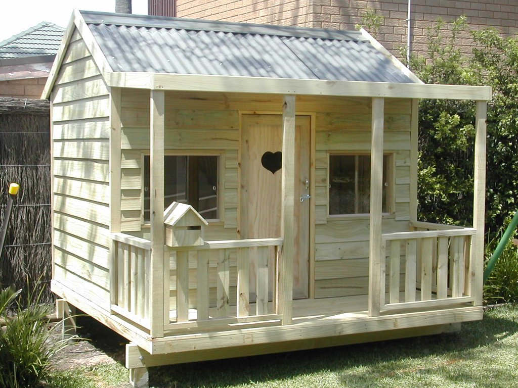 Diy Cubby House Plan Australium Home Design Style Outdoor Wooden Playhouse With Slide