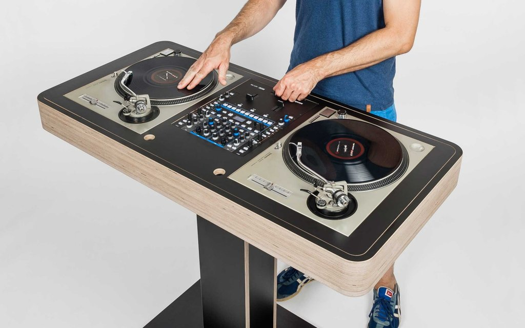 Diy Dj Turntable Diy Project Decorating Square Picnic Table