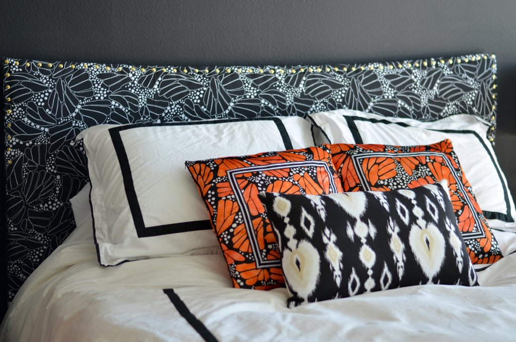 Diy Fabric Covered Headboard Thestylesafari Padded Headboard Ideas