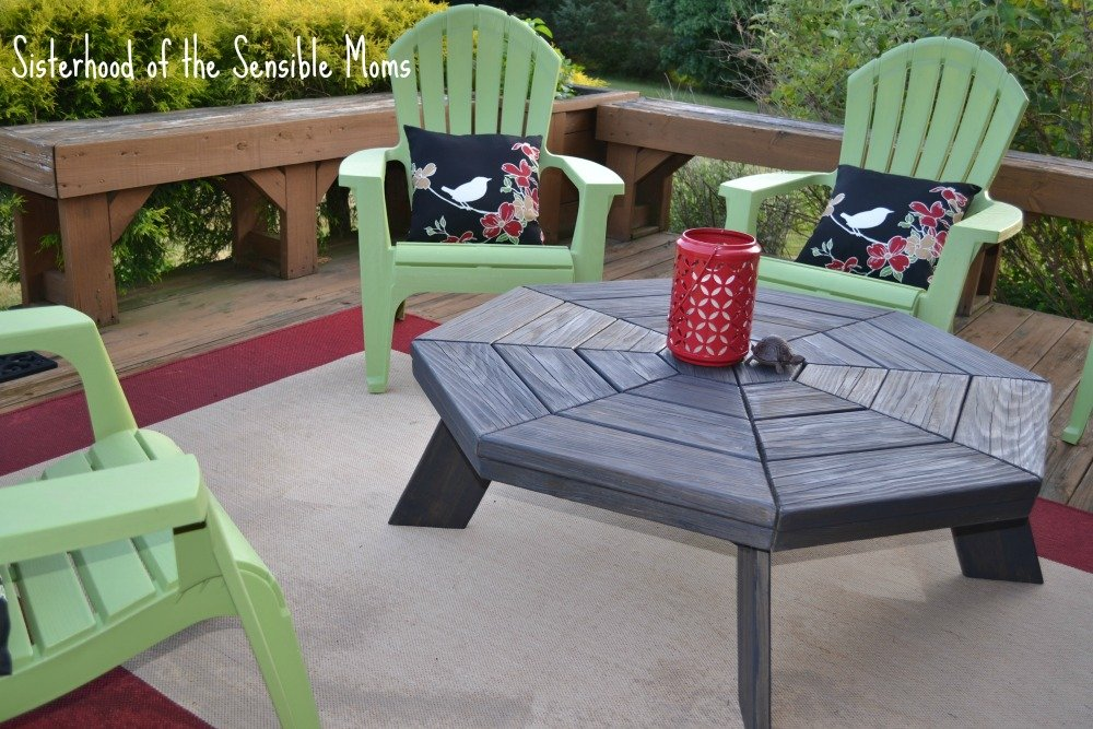 Diy Picnic Table Coffee Table Transformation Making Fire Pit Coffee Table