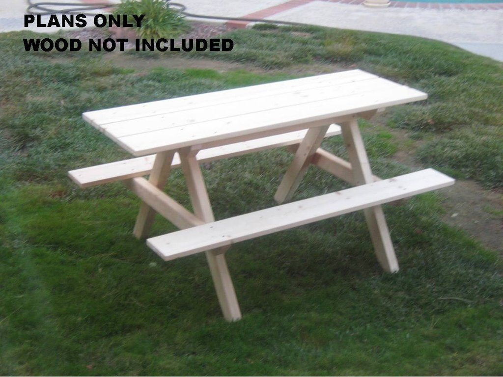 Diy Plan Kid Picnic Table Outdoor Furniture Decorating Square Picnic Table