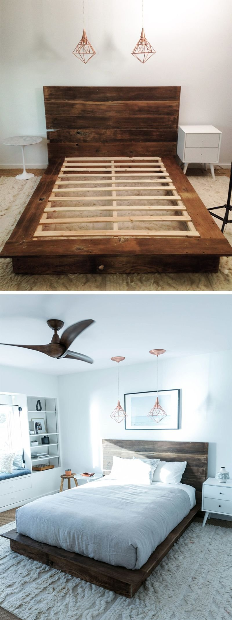 Diy Reclaimed Wood Platform Bed Kate Diy Wood How To Build A Wood Twin Bed Frame