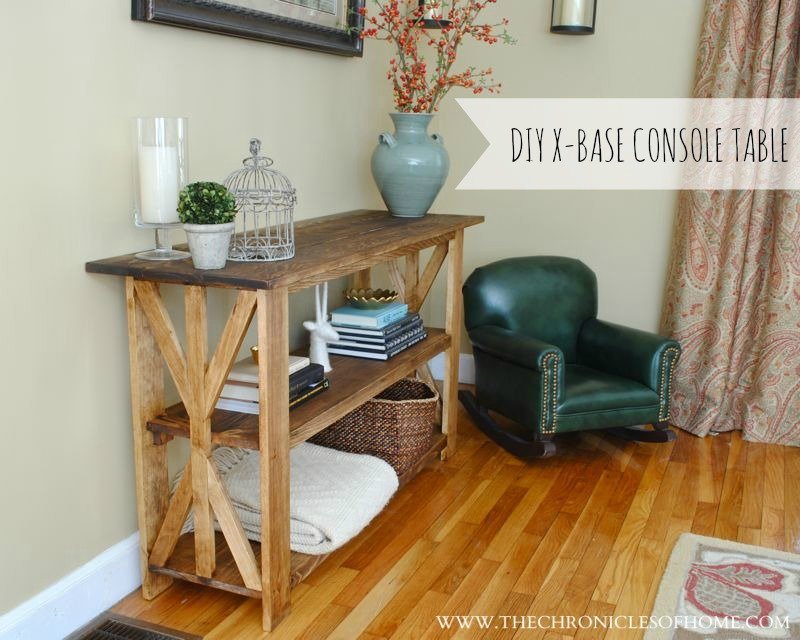 Diy Rustic Base Console Table Chronicle Home How To Design Rustic Console Table