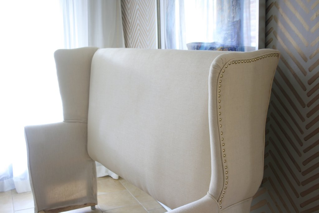 Diy Upholstered Wingback Headboard Mimzy Company Guideline To DIY Tufted Headboard