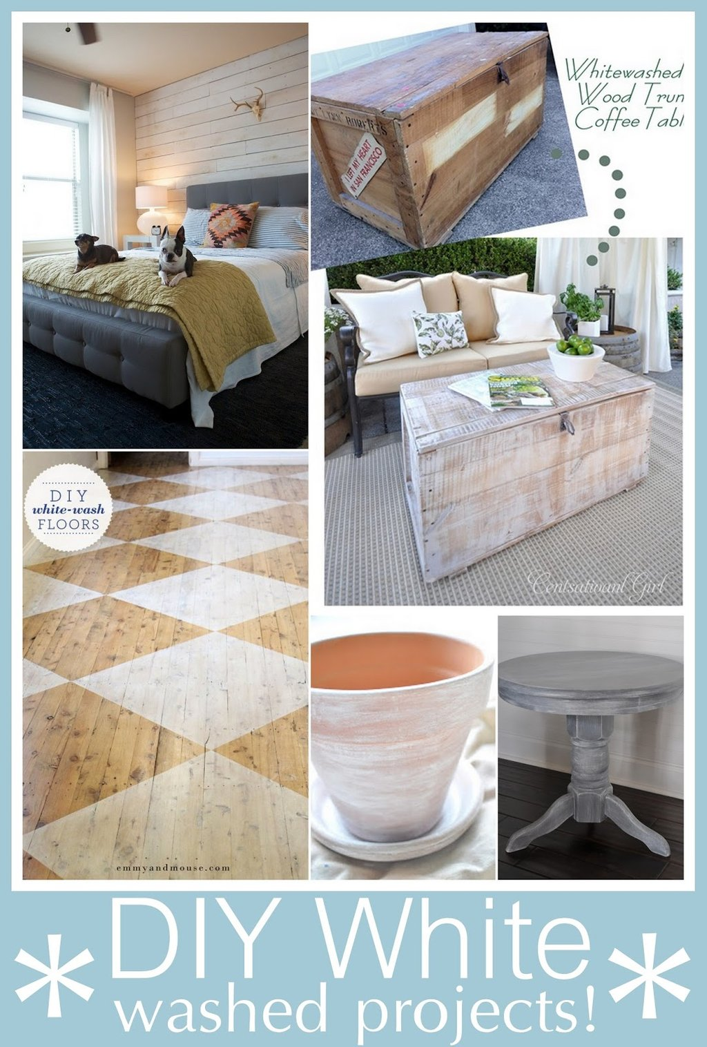 Diy White Washed Project Craft Maniac Make A Tree Trunk Coffee Table