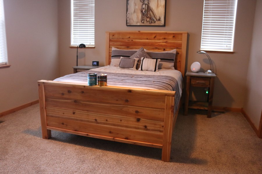 Diy Wood Bed Frame Rustic Wooden Bed Frame How To Build A Wood Twin Bed Frame