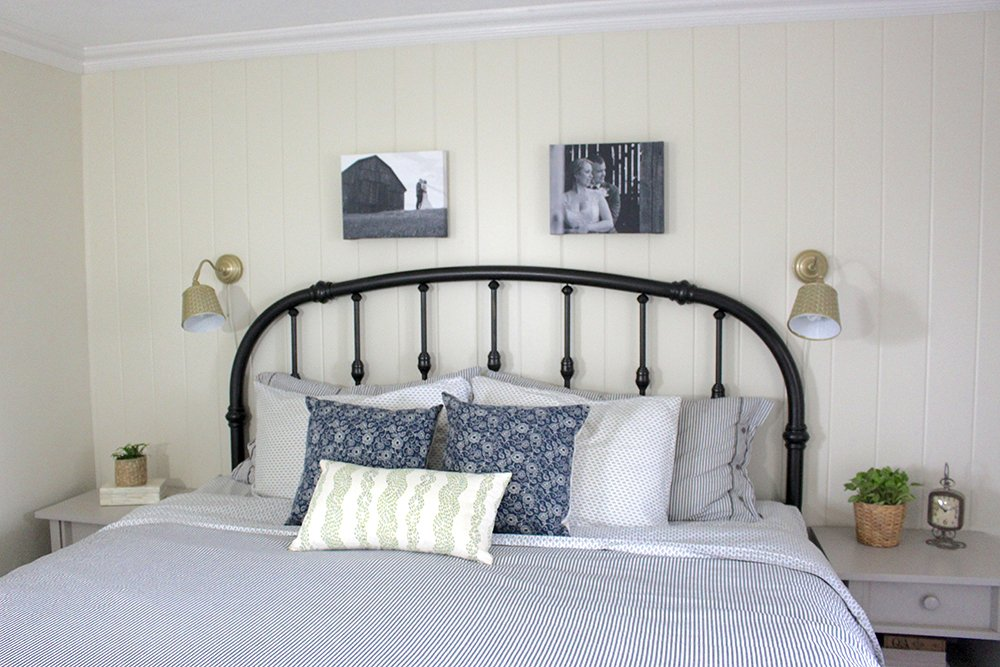 Diy Wrought Iron Headboard Life Cloverhill Paint On Iron Headboard