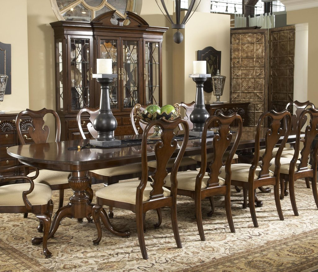 Double Pedestal Dining Room Table Set Homelegance Double Pedestal Dining Table Antique