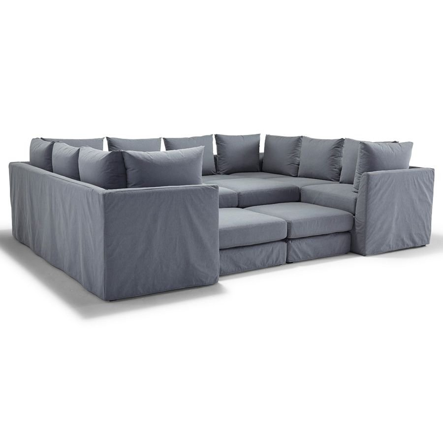 Dr Pitt Slipcovered Sectional Mitchell Gold Bob How A Reclining Sofa To Function Properly